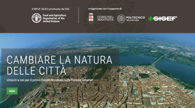 WFUF2018-Forum Mondiale sulle Foreste Urbane