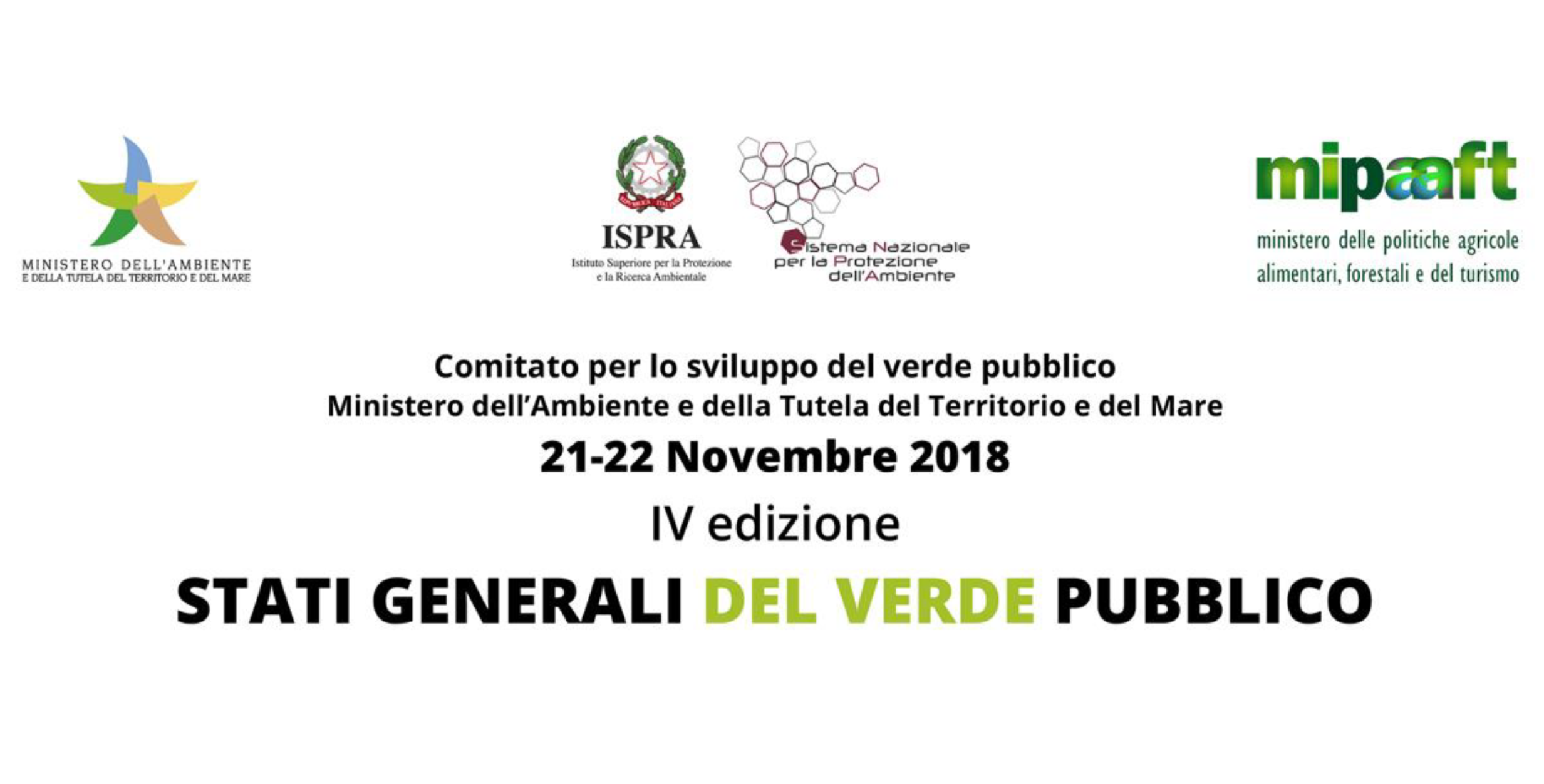 Stati Generali del Verde Pubblico 2018