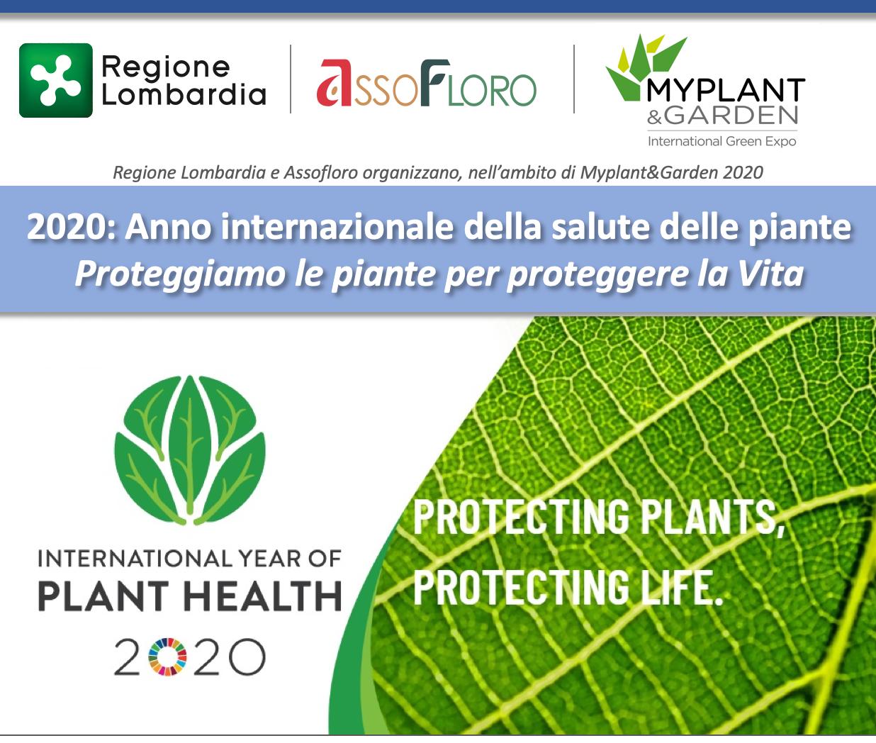 Anno Internazionale della Salute delle Piante. Conferenza di ASSOFLORO e Regione Lombardia a Myplant&Garden