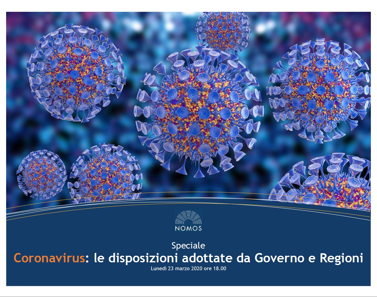 Covid-19. Disposizioni Governo e Regioni