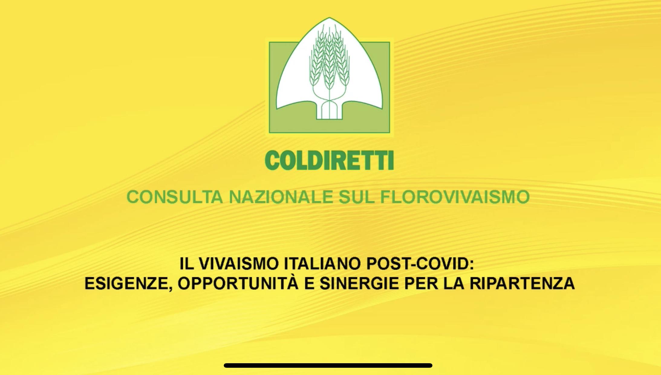 A Roma, con la Consulta Florovivaistica Coldiretti, incontro sul vivaismo italiano post Covid-19.